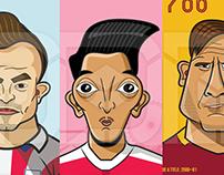 Famous Footballer Illustrations