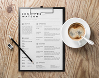 Free Elegant Vector Resume Template