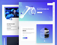 PlayStation Virtual Reality Website Design