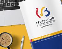 Rapport d'activités  Parlement de la fédération WB