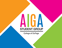AIGA Student Group Brand Identity