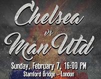 Poster Chelsea Vs Manchester United