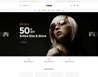 Shopify theme & Magento theme design for glasses stores