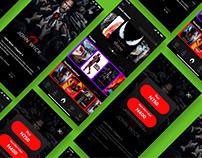 Mobile movie streaming app Test UI/UX