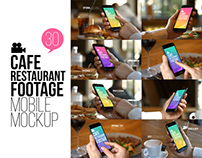 Cafe Restaurant Footage Mobile Mockup