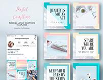 Pastel Coastline social media graphic templates