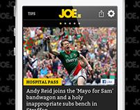 JOE.ie iOS & Android app (2012-2014)