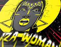 "Illustration Poster: God ""IZA"" Woman"