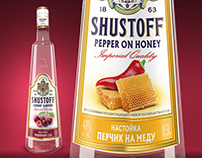 А series of liqueurs