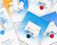 Adobe Document Cloud Mobile On-boarding Cards Re-design
