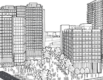 LendLease Brochure Drawing illustration