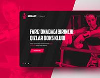 Boxing Club - Landing Page Website design consept