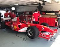 Luis giró con la Ferrari ex Schumacher en el Gálvez