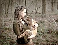 Zelfportret met vos