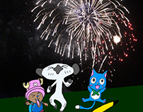 Anime Mascot Fireworks Celebration 2018