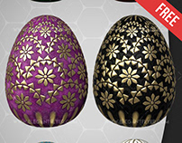 Easter Eggs – Free 3d Render Templates