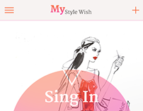 My Style Wish Application Design