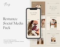 Romance Social Media Pack PS Instagram Templates Posts