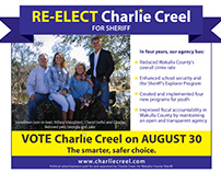Charlie Creel Re-election Campaign Ads