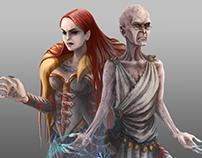 Veunice and Zevediah - Legendary Games illustration