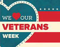 """We """"Heart"""" Our Veterans Week Campaign"""
