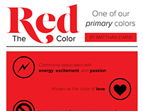 The Color Red (info poster)