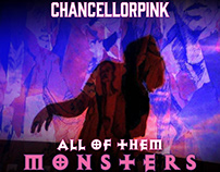 Chancellorpink 'All of Them Monsters' Album Design