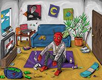 """""""демон саня"""" mix illustration"""