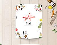 MyApron- Business card and Menu Design