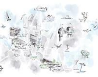 Maya Beus Sydney map mural