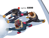 Storyboard for BBDO Russia