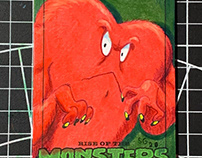 Rise of the Monster Sketch Card set