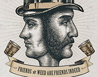 Jeremiah Weed Whiskey Illustrations by Steven Noble