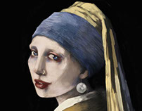 """creepy """"Girl with a Pearl Earring"""""""