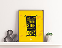 Free Brand PSD Poster Mockup