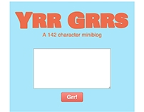 5 Hour Miniblog (Ruby, CSS3)