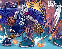 2017 HBL 台灣高中籃球聯賽插畫 Campaign Graphics