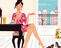 Beauty illustration for Sunday Express magazine