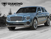 Bentley Bentayga Luxury SUV rental in the US