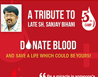 5th Blood Donation Camp Advertisement