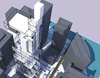 vertical mapping skyscraper