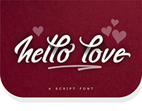 hello love - a free brush font