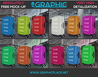 Suitcase - Free PSD Mockup