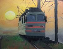 Evening's locomotive