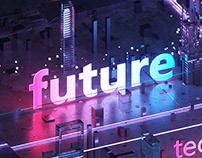 Neon city light Futuristic