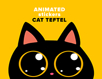 Cat Teftel — Animated Stickers For Telegram