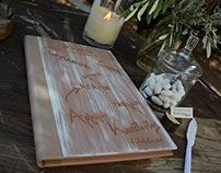 Wooden Guestbook for a destination wedding.