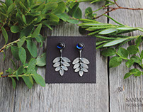 Blueberry earrings and ring