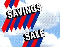 BIG SAVINGS SALE