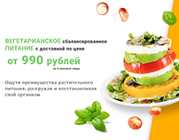 Vegetarian meal delivery landing page